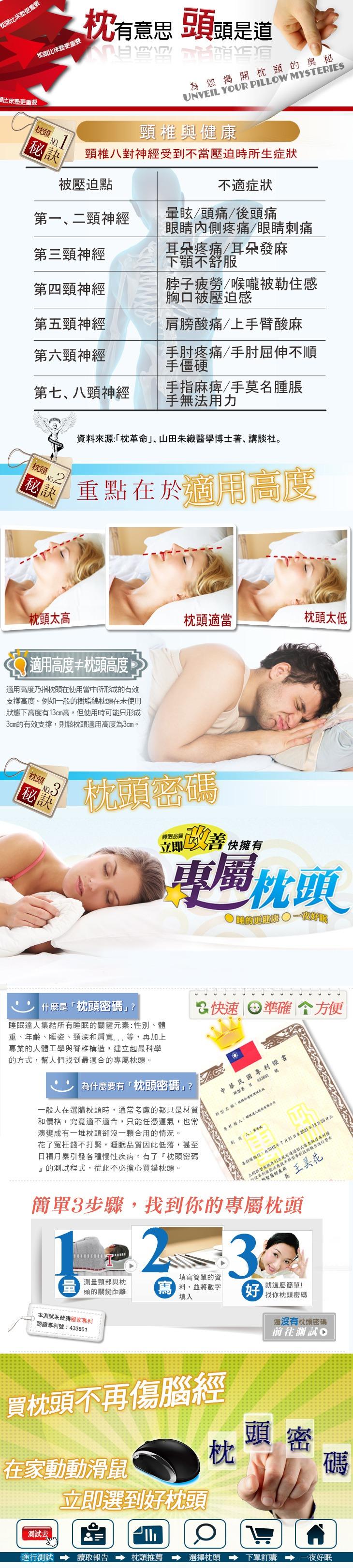 如何挑選枕頭 枕頭密碼 失眠 睡不好 肩頸僵硬 手指麻痺 睡眠達人 頭痛頭暈