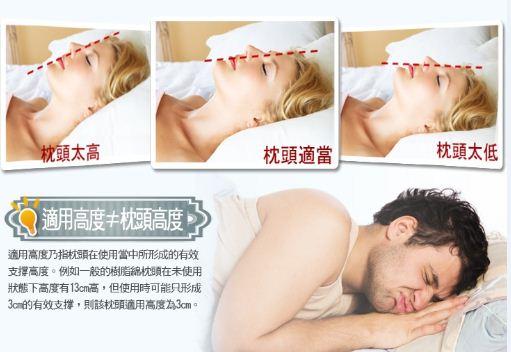 枕頭/記憶枕/乳膠枕/落枕/失眠